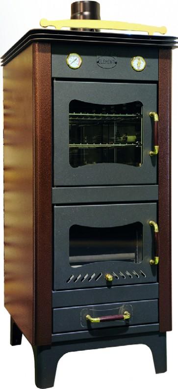 stufa a legna ad aria con forno Clementi ELITE CLASSICA ramata