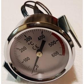 termometro inox stufa a legna Elite Moderna Clementi