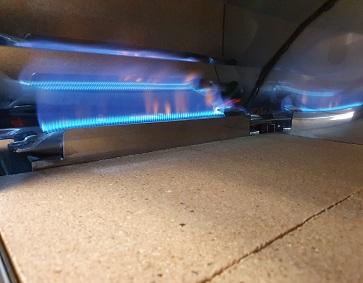 piana refrattaria e bruciatore