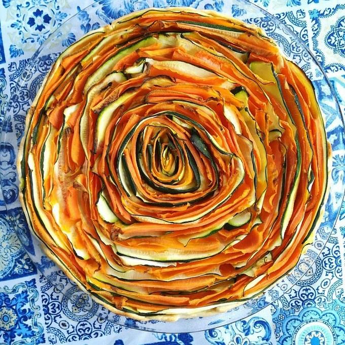 crostata di zucchine e carote