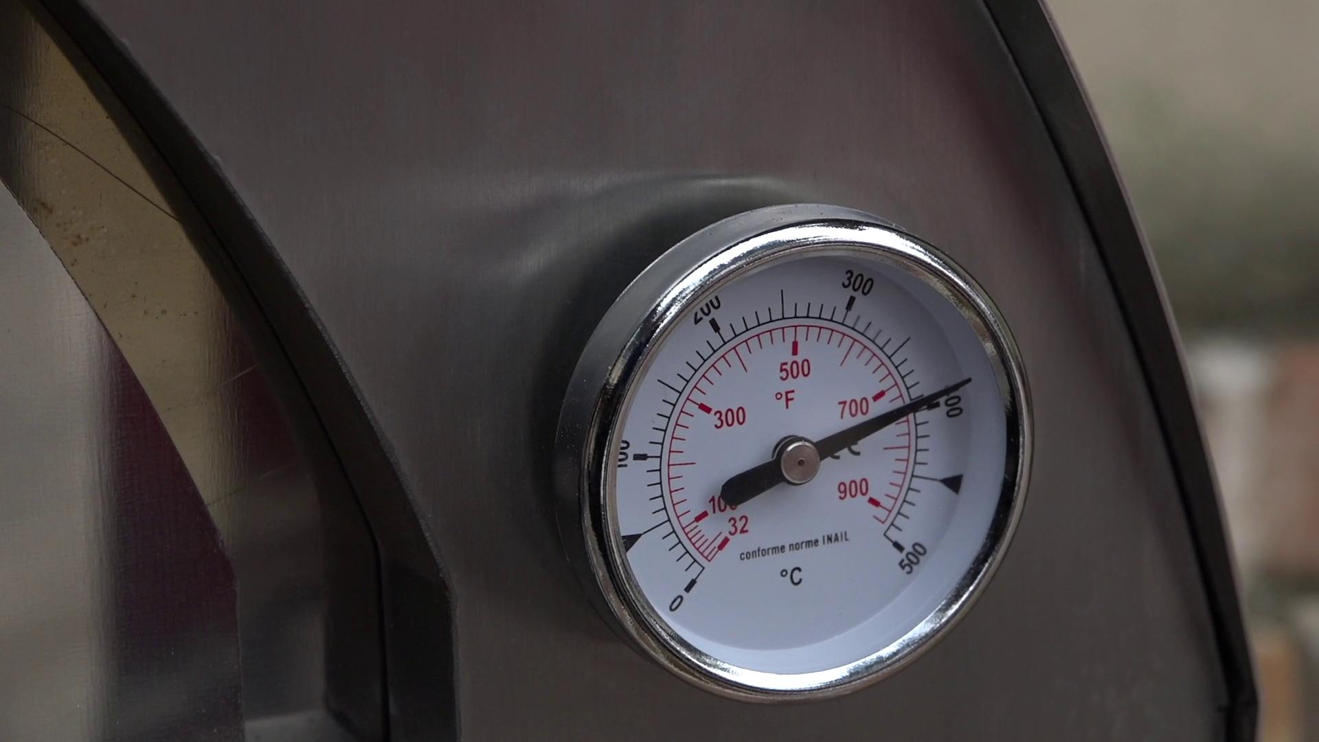 temperatura forno a legna